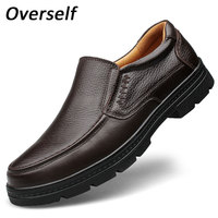 Big Size Formal Mens Dress Shoes Genuine Leather Black Luxury Brand Wedding Shoes Men Flats Office