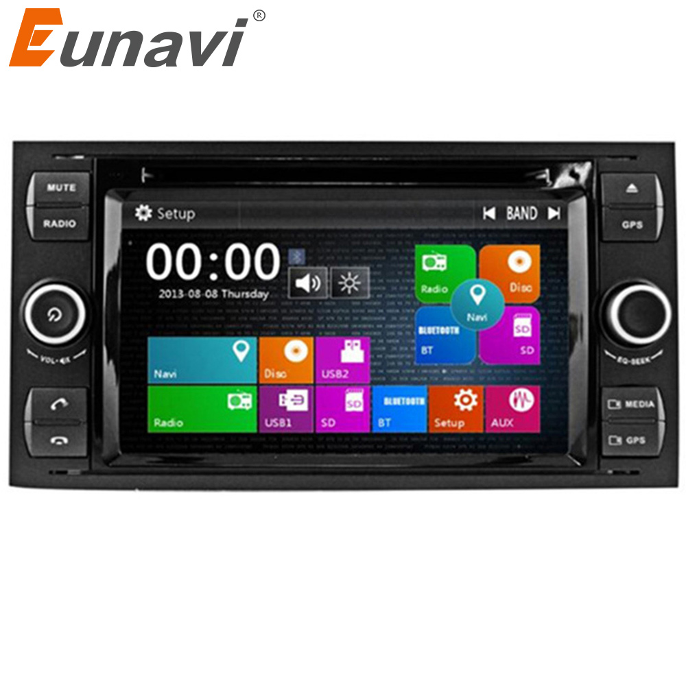 Eunavi 7 2 Din Car DVD Player For Ford Focus Galaxy Fiesta S Max C Max Fusion Transit Kuga In dash GPS Navi Car Radio Stereo
