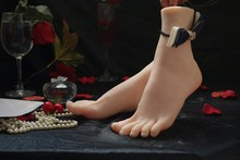 Exclusive dealing–sex real doll simulation foot model high simulation feet silk stockings foot new code fetish reverse mould
