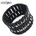 Vintage Wide Bracelet for women Indian Jewelry rhinestones Bracelets & Bangles Austrian Crystl Gift brt-j66