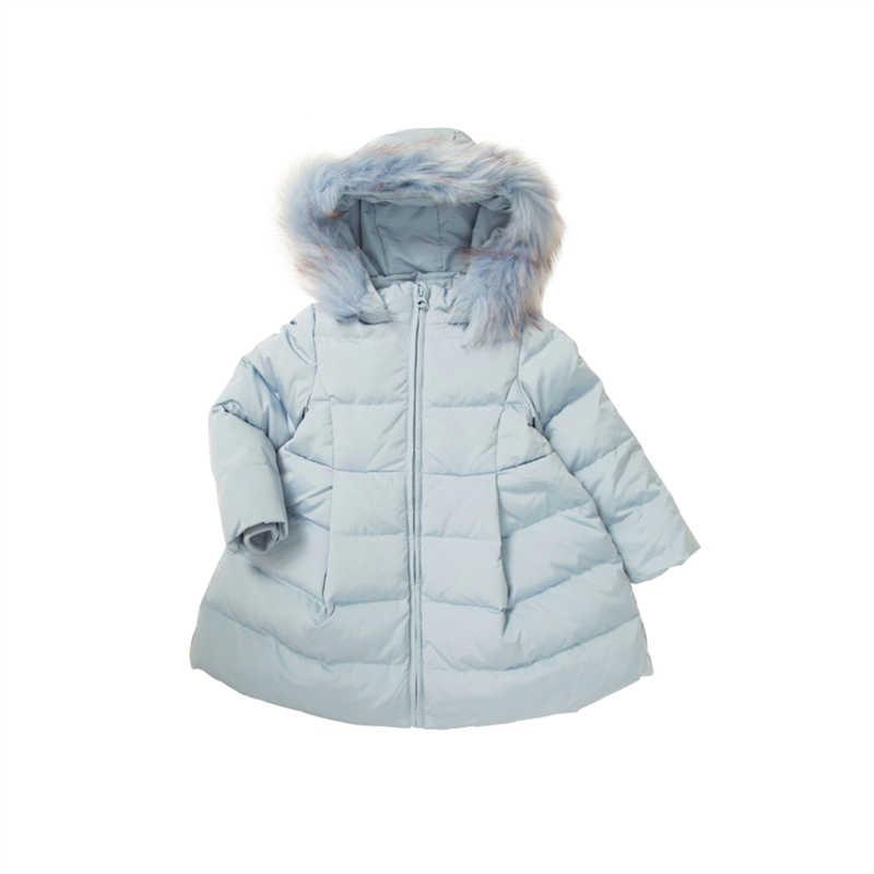 תינוקת חורף מעיל ילדה מעיל ילדים של חורף מעיל מעיל ילדי אמיתי נערה פרווה על הוד חדש שנה תלבושות תינוק הלבשה עליונה