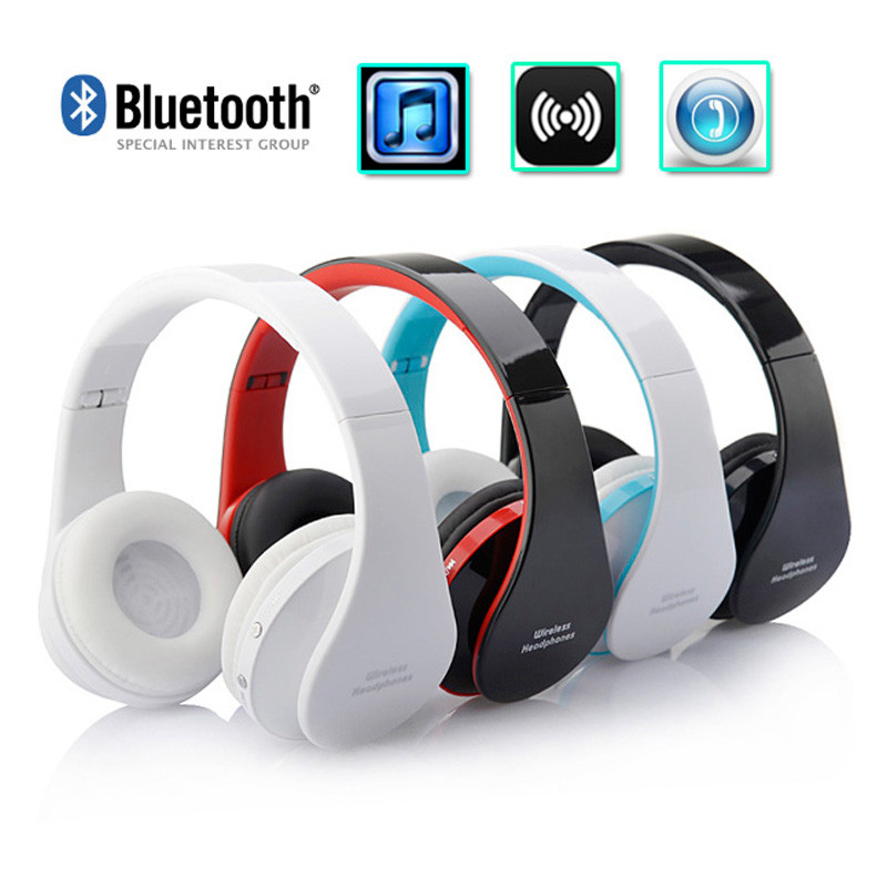 2018 Top sale New Fashion 1PC Wireless Bluetooth Earphone Stereo Foldable Headset For Cell Phone for MP3 MP4 new 3 5mm motorbike motorcycle helmet earphone headset stereo speakers with cable extension for mp3 music device gps cell phones