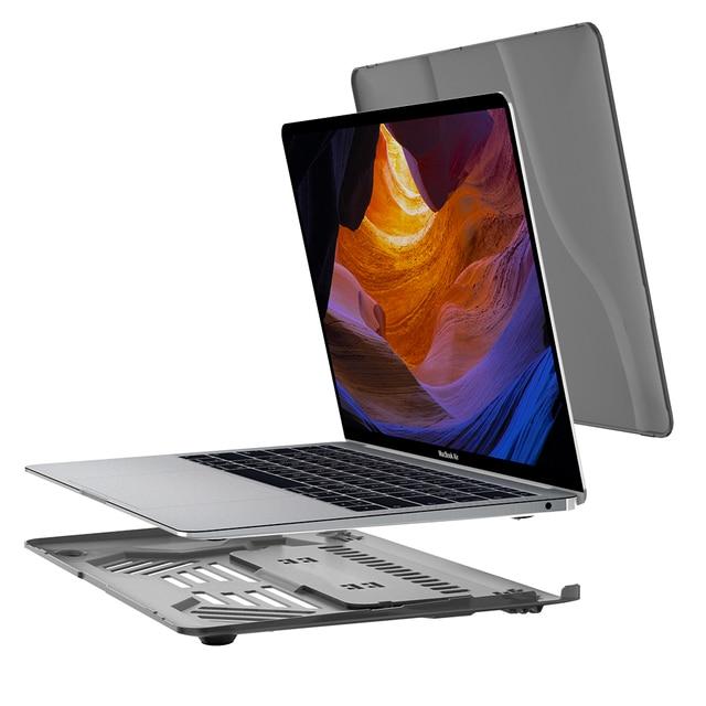 תכליתי מקרי מחשב נייד ידית נייד שקוף PC case עבור Apple Macbook Air Pro 13.3 מחשב נייד כיסוי A1369 A1706 A1708