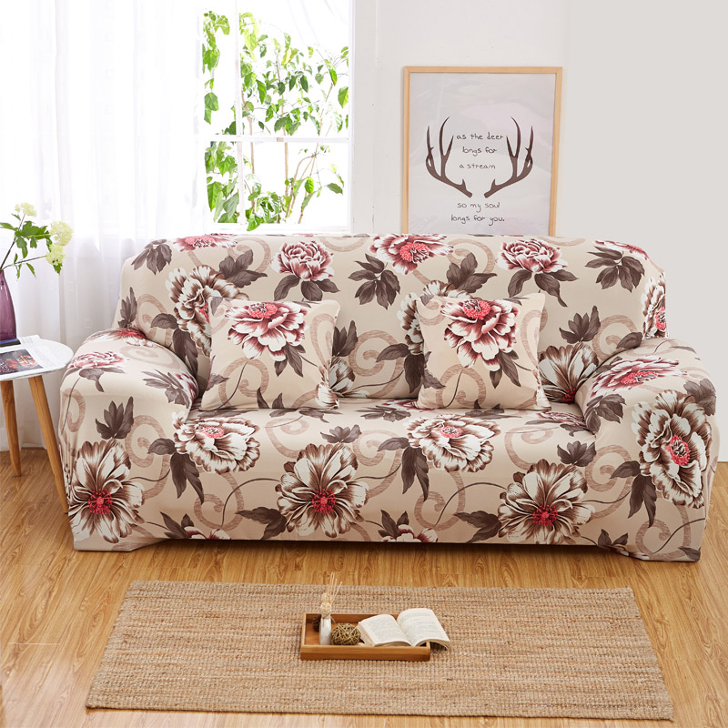 New Cheap Universal Sofa Cover Flower Printed Elastic Flexible Loveseat Sofa Funiture Cover For