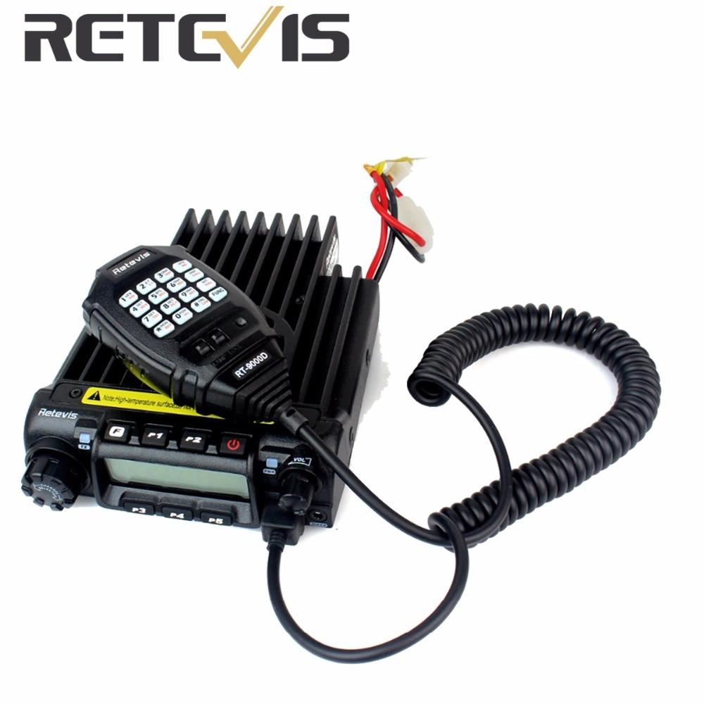 bilder für Retevis Mobile Radio VHF 66-88 MHz 60 Watt 200CH 50 CTCSS/1024DCS 8 Gruppe Scrambler VOX Scan Mit Programmierkabel Autoradio A9100