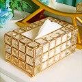 Коробка для хранения салфеток Блестящий Золотой Серебряный стеклянный бумажный контейнер для ресторана автомобиля дома отеля