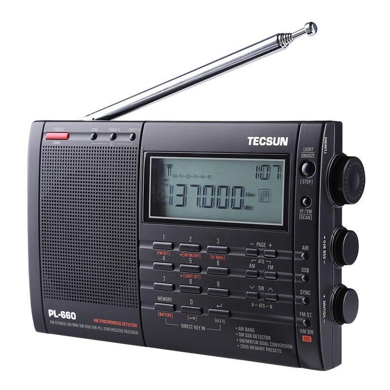PL-660 PLL SSB VHF AIR Band Radio Receiver FM/MW/SW/LW Multiband Dual TECSUN T0143PL-660 PLL SSB VHF AIR Band Radio Receiver FM/MW/SW/LW Multiband Dual TECSUN T0143
