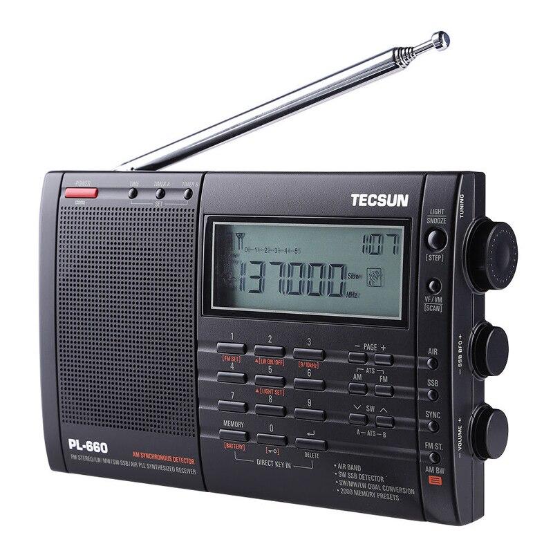 PL-660 pll ssb vhf receptor de rádio banda de ar fm/mw/sw/lw multiband duplo tecsun t0143