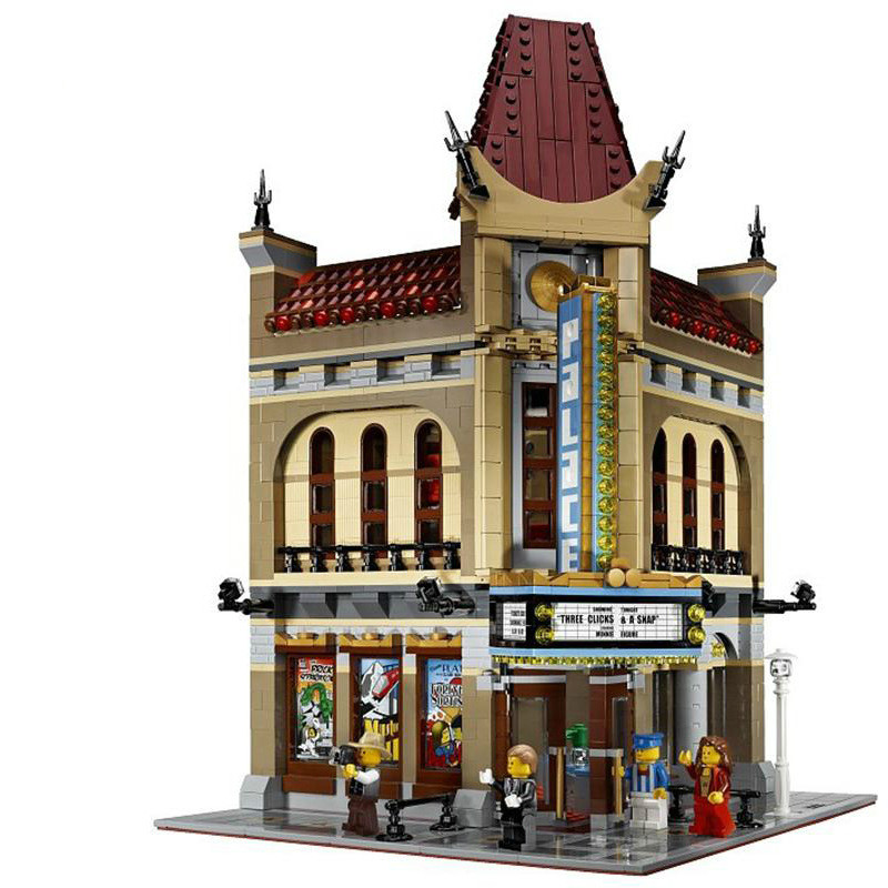 2017 New LEPIN 2404pcs Creators Palace Cinema Model Building Mini figure mega Blocks Toys Kids Gift Compatible Legeo 2016 new lepin 15006 2354pcs creator palace cinema model building blocks set bricks toys compatible 10232 brickgift
