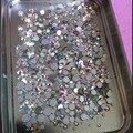 Misture Tamanhos 1000 Unidades/pacote Crystal Clear AB Não Hotfix Strass Flatback Prego Strass Para Unhas 3D Nail Art Decoração Gems
