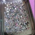 Tamaños de la mezcla 1000 Unids/pack Crystal Clear AB No Hotfix Flatback Rhinestones Del Clavo Para Uñas 3D Decoración Del Arte Del Clavo Gemas