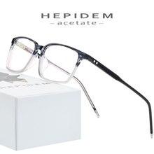 Ацетатная оправа для очков, Мужские квадратные очки по рецепту Nerd,, новинка, Мужская оптическая оправа для близорукости, корейские прозрачные очки, очки