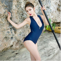 Cosplay Japanese Style Sexy Lingerie Zipper Open Bust High Cut BodySuitnime Sexy Moe Girls Type Reservoir