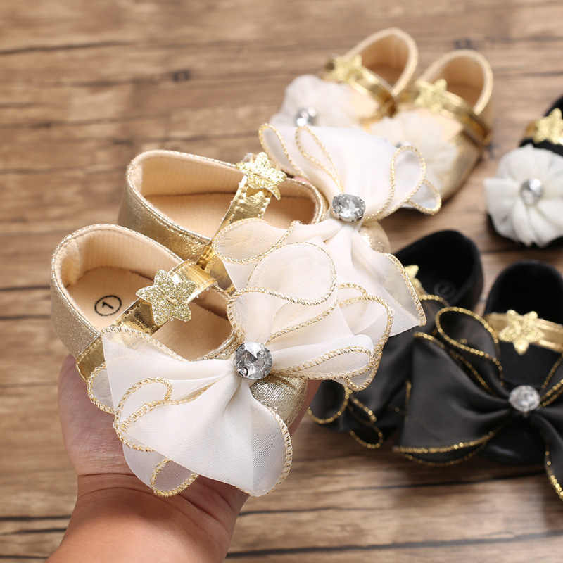 Zapatos de bebé niña Arco-Nudo suave cómodo inferior antideslizante moda Zapatos princesa Lovely los niños zapatos