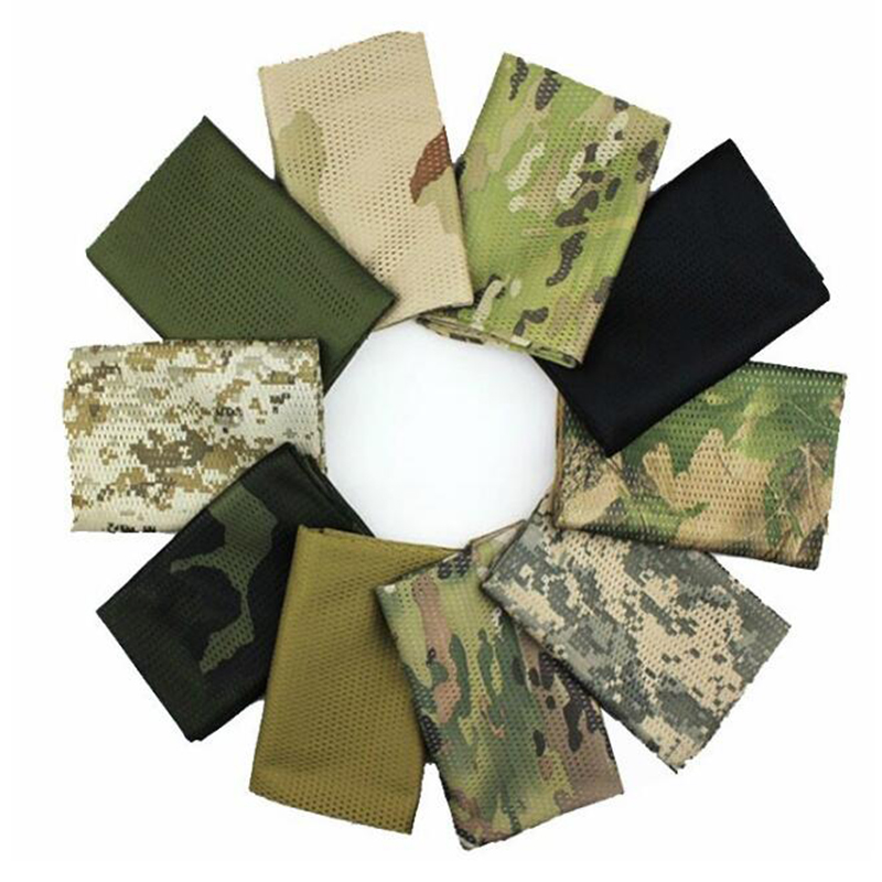 Wholesale For High Discount Breathable Mesh Camouflage Scarf Men Camo Neckerchief Digital Desert Forest