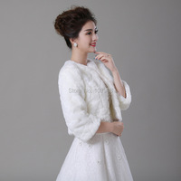 2016 Winter Leather grass fox fur mink rabbit fur poncho cape bridal wedding dress shawl cape women vest fur coat V004