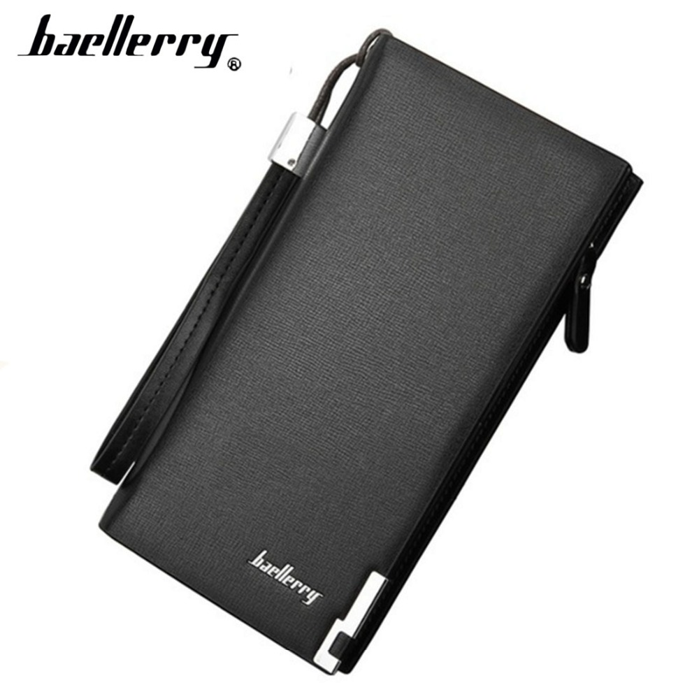 Baellerry Luxury Men Wallets Casual Male Clutch Brand quality Wallet Men Purse With Card Holder Multi-function Money Bag 1N designer men wallets famous brand men long wallet clutch male money purses wrist strap wallet big capacity phone bag card holder