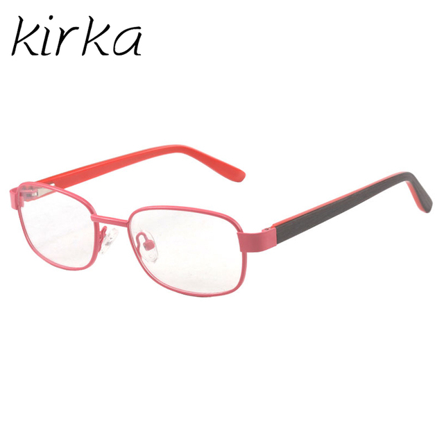 21fbc8b4cf0c Kirka Metal Kids Eyeglasses Children Pink Plain Prescription Glasses Frames  Girls Boys Optical Children Glasses Frame