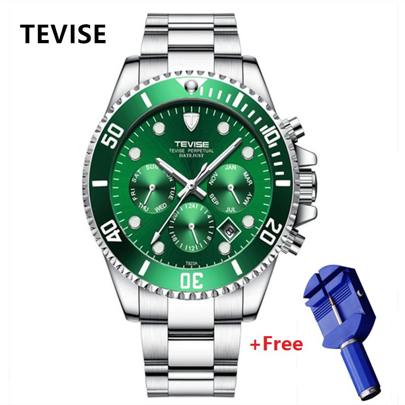 New TEVISE Automatic Watch Men Luxury Mechanical Men\'s Wristwatches Stainless Steel Waterproof Military Watch relogio masculino