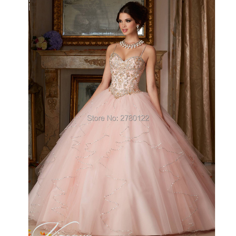 Turquoise Quinceanera Dresses Bead Bodice Ball Gown Tulle Quinceanera Dresses 2019 Cheap Quinceanera Gowns Vestidos De 15 Anos(China)