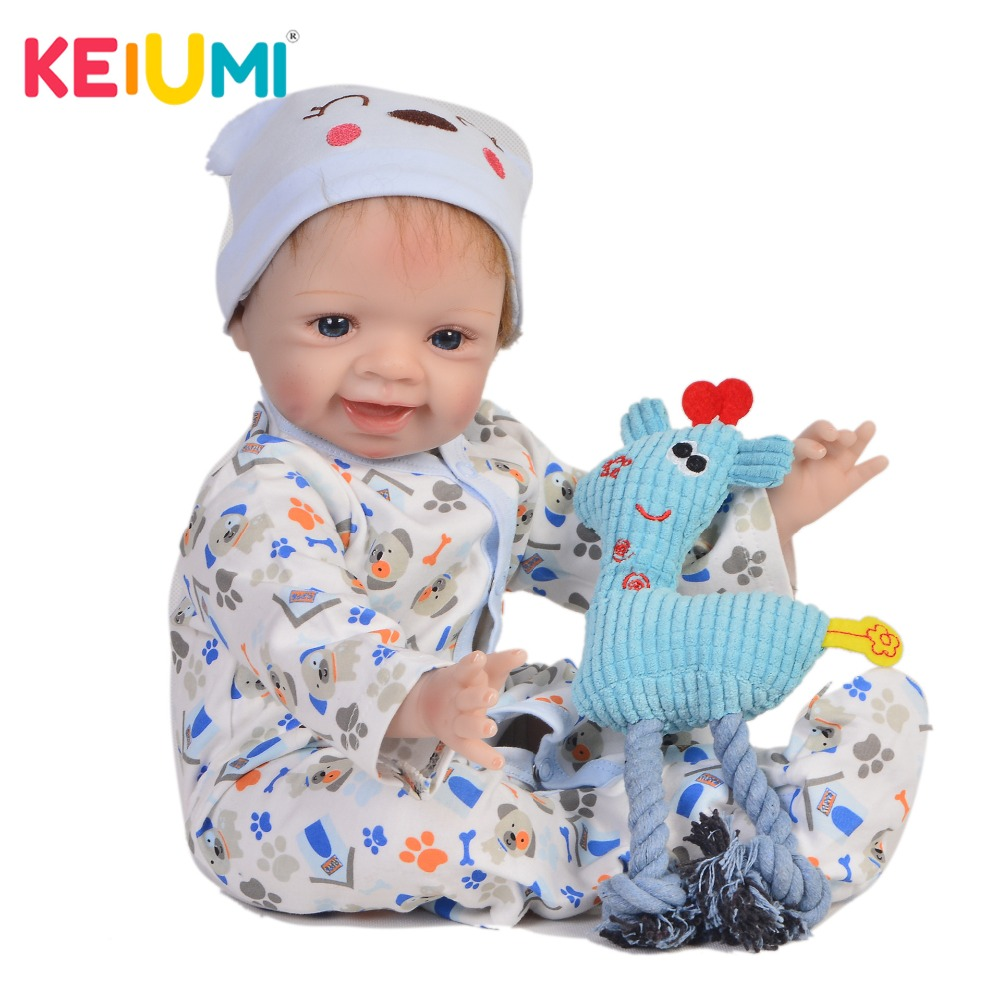 KEIUMI Real Touch 22 Inch Newborn Baby Doll Cloth Body Realistic Lovely Baby Doll Toy For Children's Day Kid Birthday Xmas Gifts keiumi real 22 inch newborn baby doll cloth body realistic lovely baby doll toy for children s day kid christmas xmas gifts