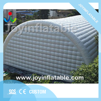 25X15m Giant white tent inflatable tunnel marquee with 0.6mm pvc for outdoor event