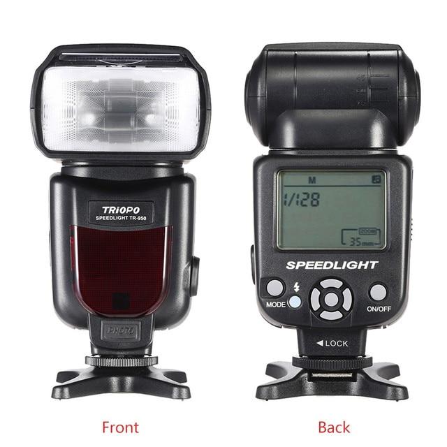 New TRIOPO TR-950 Speedlite Flash Light Phổ Máy Ảnh Flash Light cho Nikon Canon Pentax DSLR Máy Ảnh