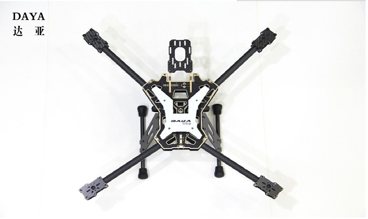 free shipping DAYA 550 550mm Alien Carbon Fiber Folding 4 Axis FPV Quadcopter Frame Kit Red Color