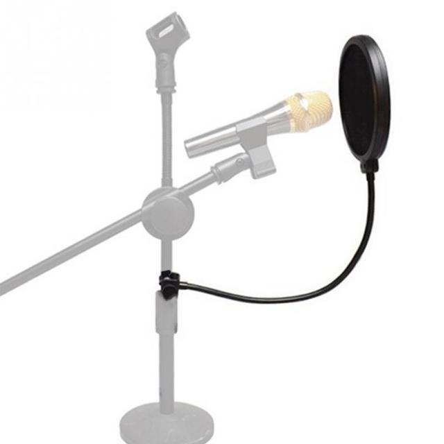 Микрофонный фильтр для пения щиток для ветрового стекла Pod литой, двойной двухслойный анти микрофонный металлический студийный фильтр
