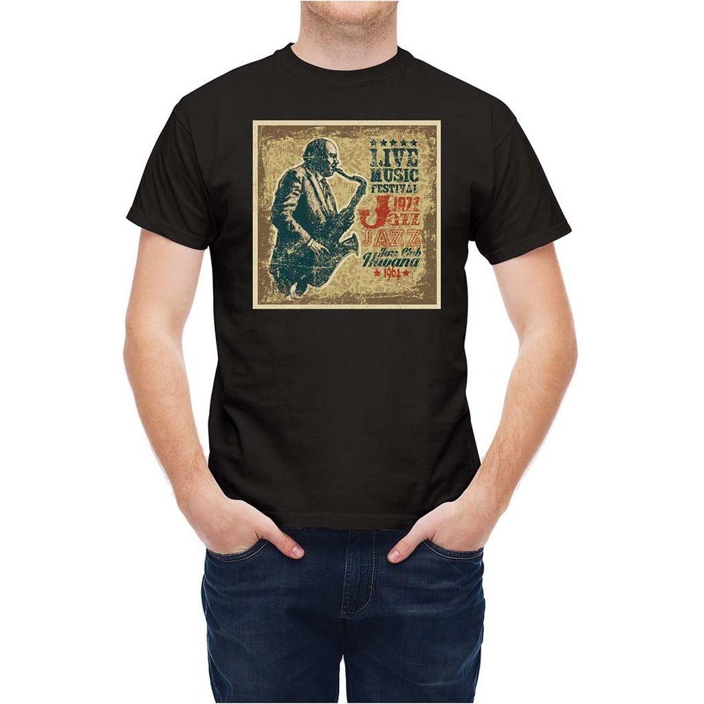 Shirt design unique - T Shirt Music Retro Style Jazz Havana Club Fashion Unique Classic Cotton Men T Shirt Top Tee Fashion Design Free Shipping