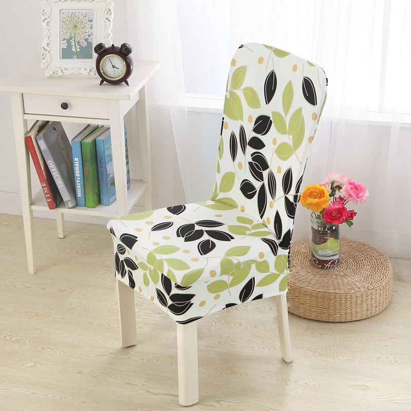 Floral Print Chair Cover Home Dining Elastic Chair Covers Multifunctional  Spandex Elastic Cloth Universal Stretch 1
