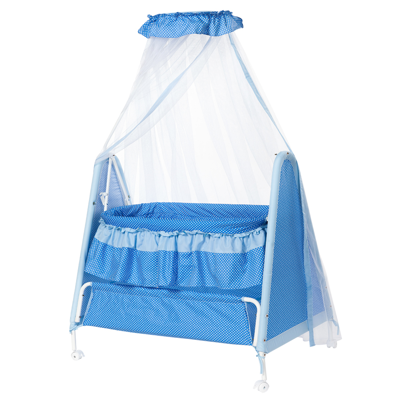 baby Cradle bed with mosquito net, portable swing cradle with 4 lockable wheels, newborn baby rocking bed, infant bassinet corn husks cradle no paint wood frame cotton baby bassinet with mosquito net and mat steel frame baby cradle baby rocking crib