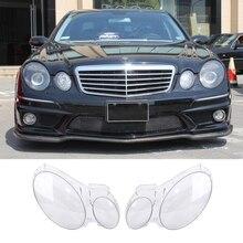 2x Прозрачный Корпус фар объектив оболочки крышка лампы сборки левой и правой стороны для Benz W211 E350 E300 02 -08 XNC