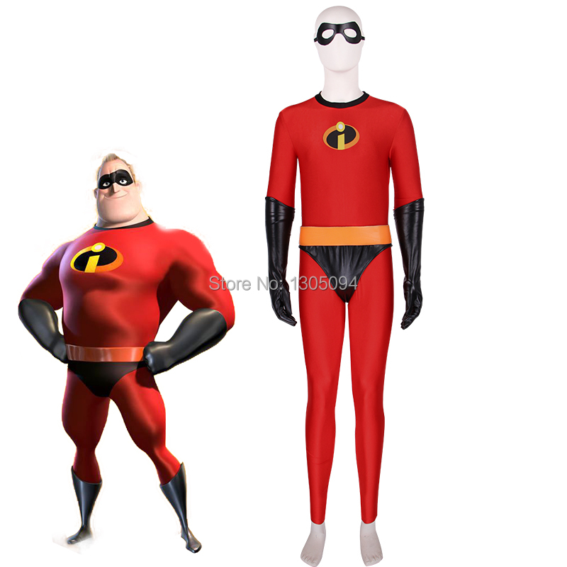 Movie Incredibles 2 Hero Bob Red Jumpsuit Cosplay Costume For Halloween Props Free Shipping