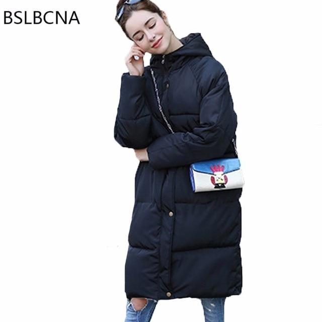 Casual Plus Size 2018 new Winter Jacket Women Coat Hat lady Overcoat Thick Cotton Padded Female Clothes Black Parka Feminina T71