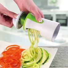 1 adet bıçakları sebze Spiralizer dilimleme Twister el Spiral kesici meyve rende pişirme araçları spagetti makarna mutfak Gadget
