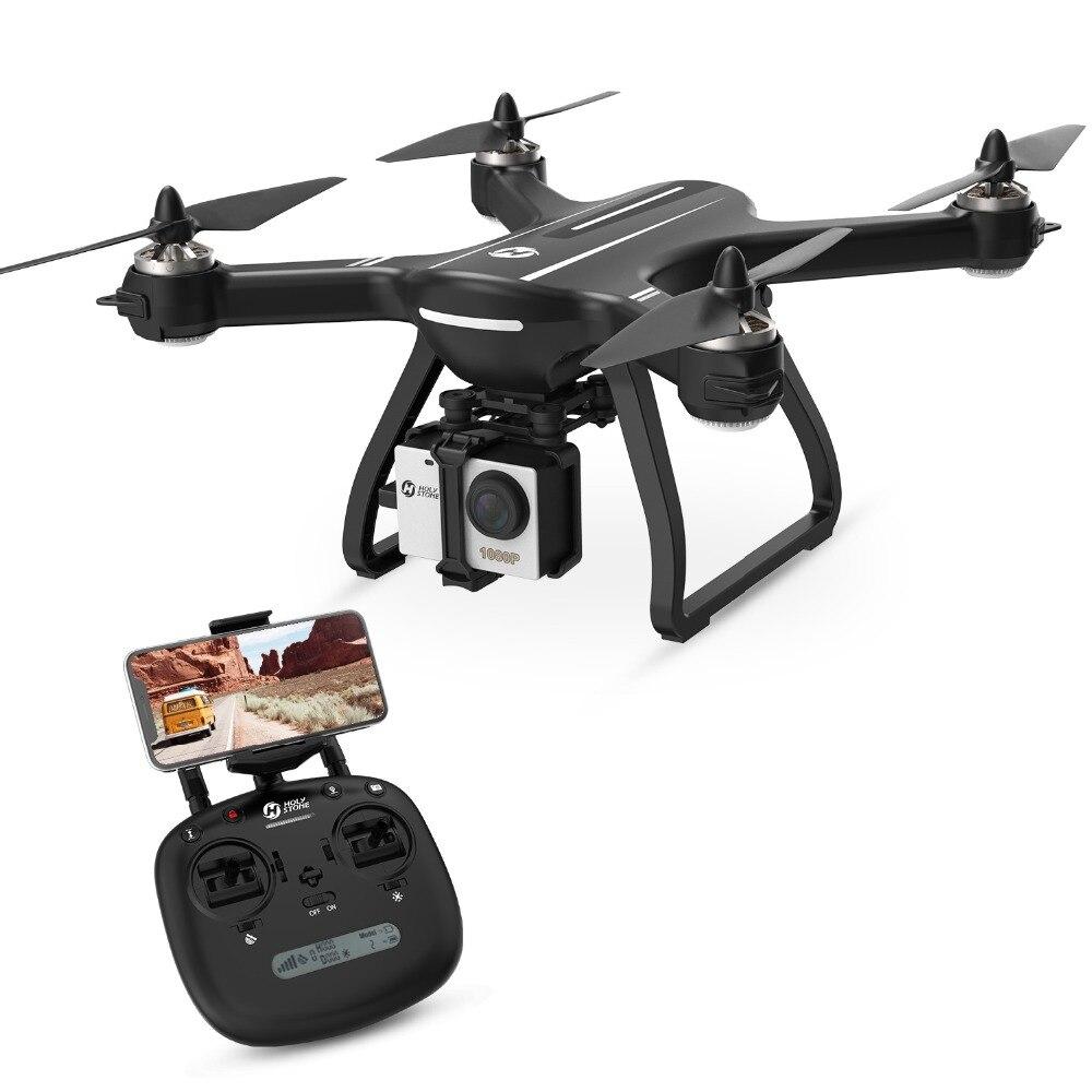 [USA UE Stock] Saint Pierre HS700 1000 m Gamme 20 minutes Vol moteur sans balai 5 GHz 400 m Wifi GPS FPV FHD 1920*1080 P 2800 mAh GPS Drone