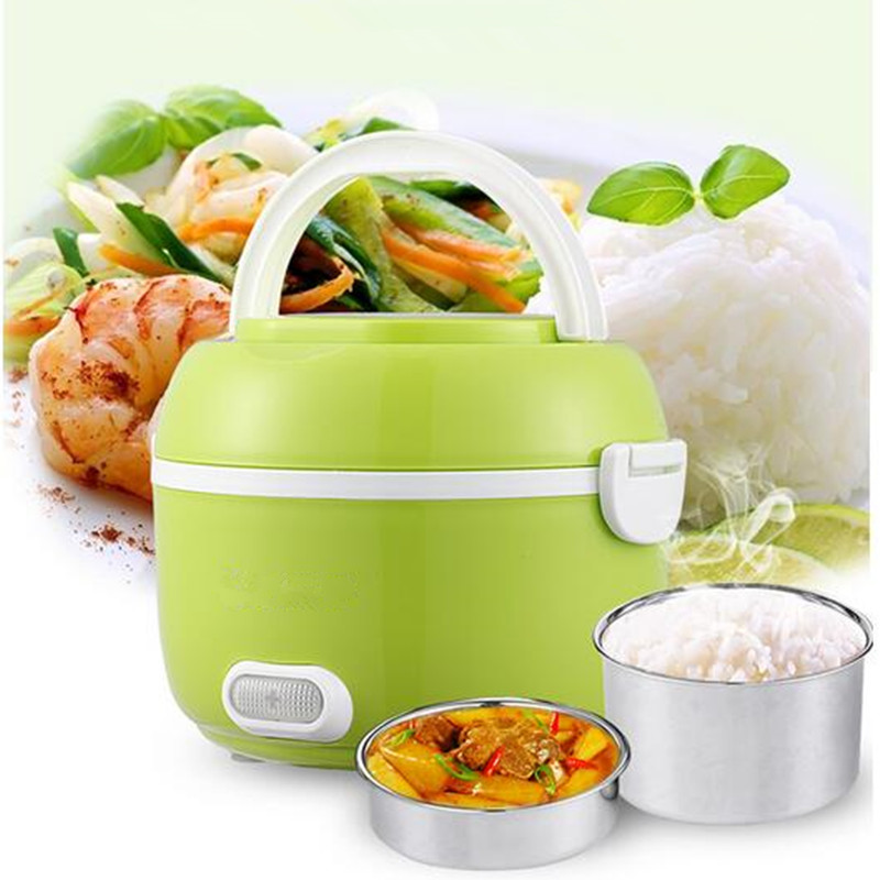 ФОТО  est 12L Portable Lunch Box Electric Rice Cooker 200W Multifunction Mini