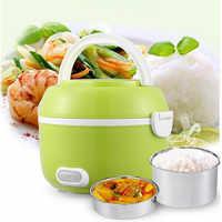Cuiseur de riz électrique portatif de boîte à Lunch de 1.2L Mini cuiseur de riz multifonctionnel de 200W
