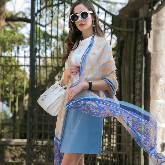 f0f15a3f72bf Sexy Silk Hijab Scarves Summer Wear Beach Blanket Pareo Sarongs Bikini  Dress Scarf Wrap Foulard 110