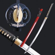 High Quality Folded Steel Japanese Samurai Katana Sword Full Tang  Blade Knife Handmade Forge Sharp Sword