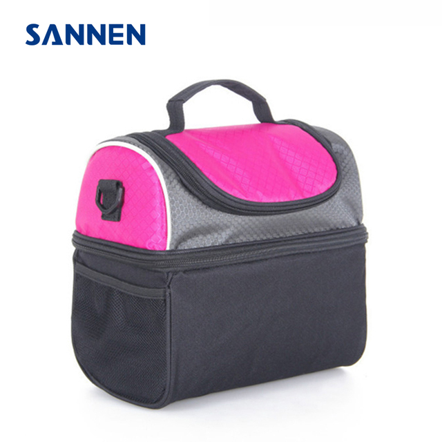 SANNEN 6L Children Portable Insulated Lunch Bag Nylon Thermal Lunchbox Food Picnic Bag Cooler Tote for Kids marmita termica