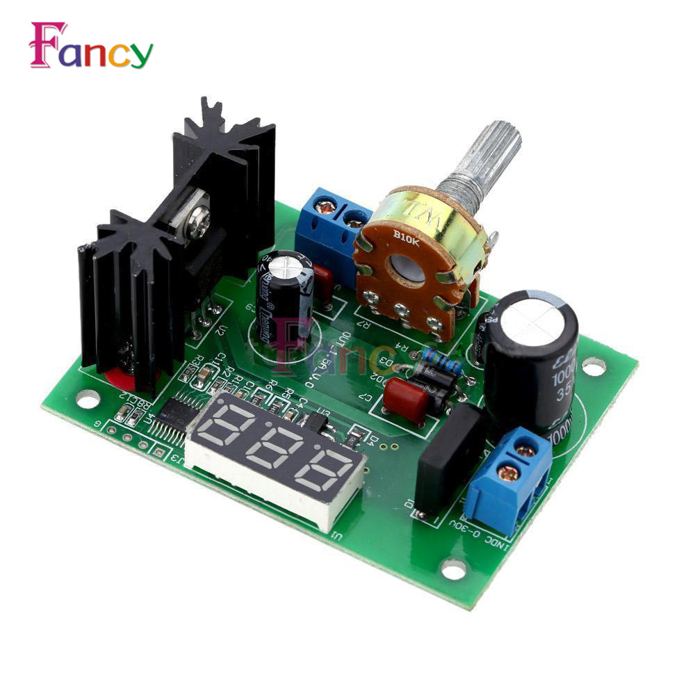 LM317 DC Buck Step Down Converter Module Voltage Regulator LED Voltmeter 12V 24V DC 0-30V Output DC 1.25-30V for Arduino tobyfancy play arts kai action figures batman dawn of justice pvc toys 270mm anime movie model pa kai heavily armored bat man