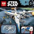 Lepin 05054 679 unids Genuino Serie Star Rebeldes U Conjunto de Bloques de Construcción Ladrillos de Combate de Ala Con Lege 75155