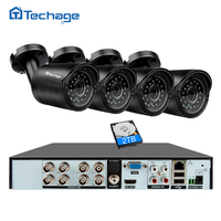 Techage 8CH 1080P HDMI Output DVR Kit AHD CCTV System 4PCS 720P 1 0MP Camera Outdoor