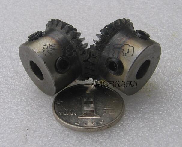 2PCS 1.5M 1:1 Bevel Gear 20 teeth 1.5 Mod M=1.5Modulus Ratio 1:1 Bore 8mm Steel Right Angle Transmission parts machine DIY 2pcs 1 5m 15t 45t bevel gear 15 teeth 45 teeth 1 5 mod ratio 1 3 steel right angle transmission parts machine diy