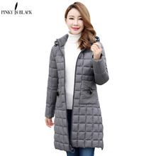 PinkyIsBlack Hooded Winter Jacket Womens Coat Plus Size 4XL Padded Long Parkas Outwear Parka For Female Jaquata Feminina