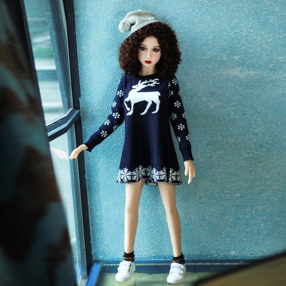 Ailijia 125 cm vie taille de sexe poupée beauté sexy fille Gros seins Réaliste poupée avec le squelette Orale, vaginale, andanus