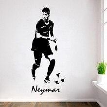 New arrival Free Shipping Soccer Footballer Neymar Vinyl Wall Decals Art Sticker Mural Home decoration sticker