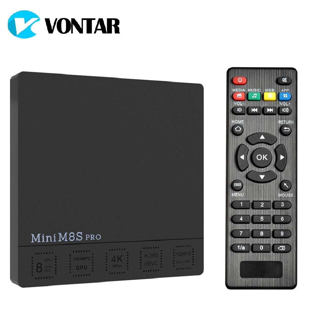 3GB 32GB Android 7.1 TV Box Amlogic S912 Octa Core 2.4G/5G Dual Wifi 4K H.265 VP10 HDR10 MiniM8SPRO Set Top Box Media player